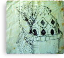 blue dragon castle Canvas Print