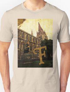 Grungy Melbourne Australia Alphabet Letter F Captain Matthew Flinders T-Shirt