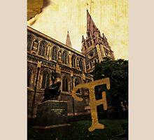 Grungy Melbourne Australia Alphabet Letter F Captain Matthew Flinders Unisex T-Shirt