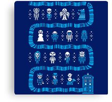 Doctor Who Police Box Sweater Canvas Print
