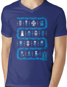 Doctor Who Police Box Sweater Mens V-Neck T-Shirt
