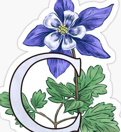 C is for Columbine - full image Sticker