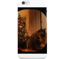 Christmas Kitty Waiting for Santa iPhone Case/Skin