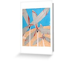 Windmills and Desert Greeting Card