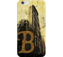 Grungy Melbourne Australia Alphabet Letter B Central Business District iPhone Case/Skin
