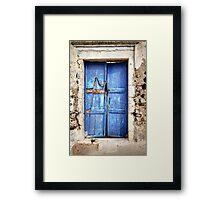 The Old Blue Door Framed Print