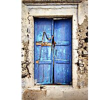 The Old Blue Door Photographic Print