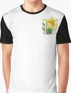 D is for Daffodil - patch Graphic T-Shirt