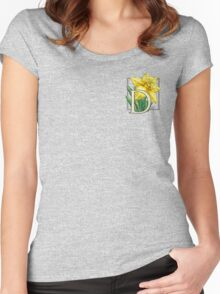 D is for Daffodil - patch Women's Fitted Scoop T-Shirt
