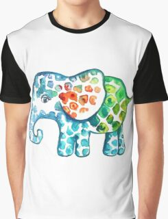 Rainbow Elephant Graphic T-Shirt