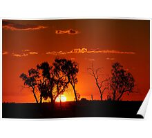 The Outback Sunset Poster