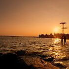 Beach Sunset - Coney Island - New York City by Vivienne Gucwa