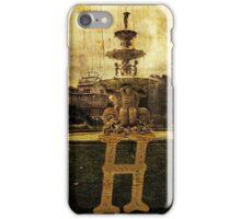 Grungy Melbourne Australia Alphabet Letter H Hochgurtel Fountain iPhone Case/Skin