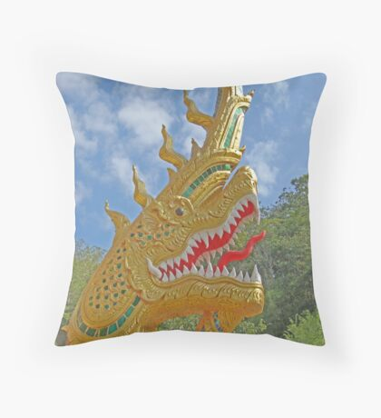 Dragon or serpent deity maintain good thing beautiful big hitters Throw Pillow