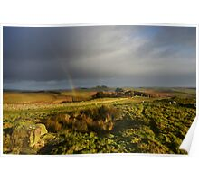 Hadrian's Wall on Winshields Crag Poster