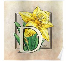 D is for Daffodil Poster
