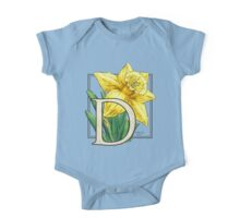 D is for Daffodil One Piece - Short Sleeve