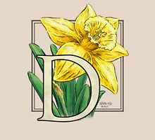 D is for Daffodil Womens Fitted T-Shirt