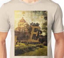 Grungy Melbourne Australia Alphabet Letter E Royal Exhibition Building Unisex T-Shirt