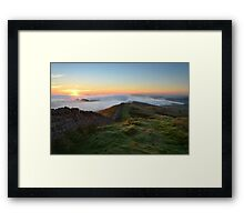 Hadrian's Wall from Winshields Crag - c9 Framed Print