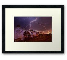 West Australian summer storms Framed Print