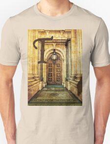 Grungy Melbourne Australia Alphabet Letter T Old Treasury Building T-Shirt
