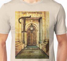 Grungy Melbourne Australia Alphabet Letter T Old Treasury Building Unisex T-Shirt