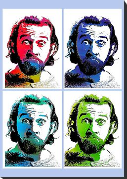 George Carlin Andy Warhol Style (Air) by YabuloStore919