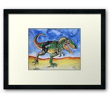 Sportosaurus Framed Print