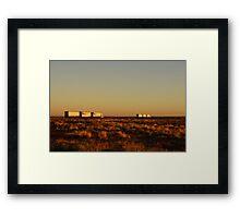 Road Trains Framed Print