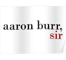 Aaron Burr, Sir Poster