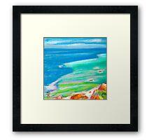 pastel . Cabo da Roca Framed Print