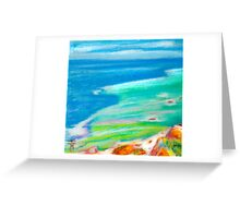 pastel . Cabo da Roca Greeting Card