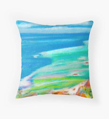 pastel . Cabo da Roca Throw Pillow