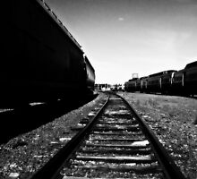 looking down the tracks by ShellyKay
