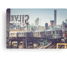 7 Train and Silvercup Studios Canvas Print