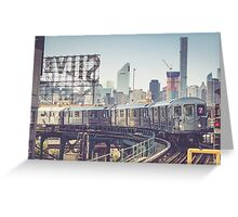 7 Train and Silvercup Studios Greeting Card