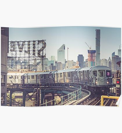 7 Train and Silvercup Studios Poster