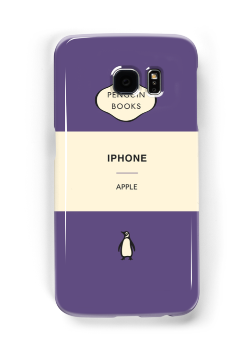 Iphone Penguin Classic Case Purple by Simon Westlake