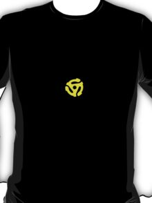 Classic Yellow 45 Vinyl Record Single Adapter T-Shirt