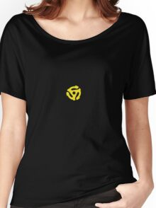 Classic Yellow 45 Vinyl Record Single Adapter Women's Relaxed Fit T-Shirt