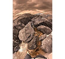 Rock pools at Parrys beach Photographic Print