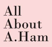 All About A.Ham (White BG) Kids Clothes