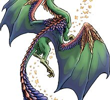 """Dragon of Summer"" floating version  by Stephanie Smith"