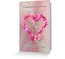 Wedding Congratulations .. card Greeting Card