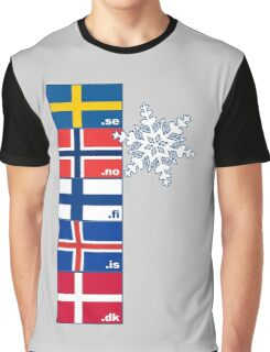 Nordic Cross Flags Graphic T-Shirt