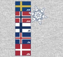 Nordic Cross Flags Baby Tee