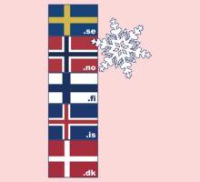 Nordic Cross Flags Kids Tee