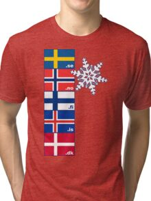 Nordic Cross Flags Tri-blend T-Shirt