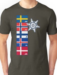 Nordic Cross Flags Unisex T-Shirt